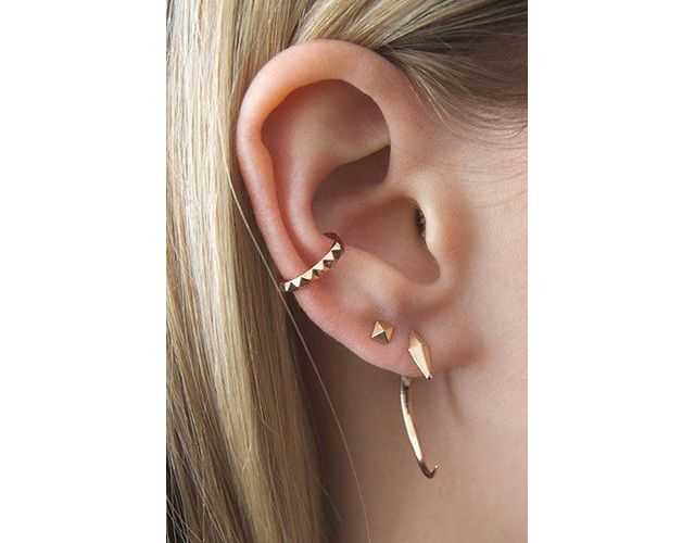 Earring Cuff with chic piercing combinations