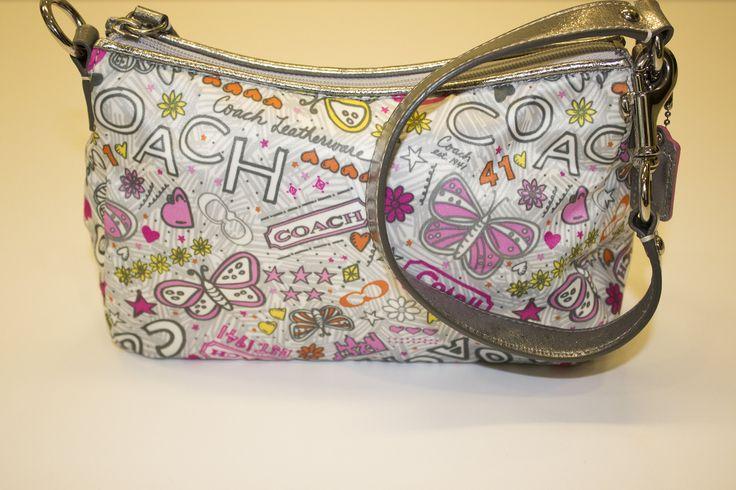 Coach Poppy Bandana Graffiti Butterfly Small Shoulder Bag by IWOULKILL4 on Etsy