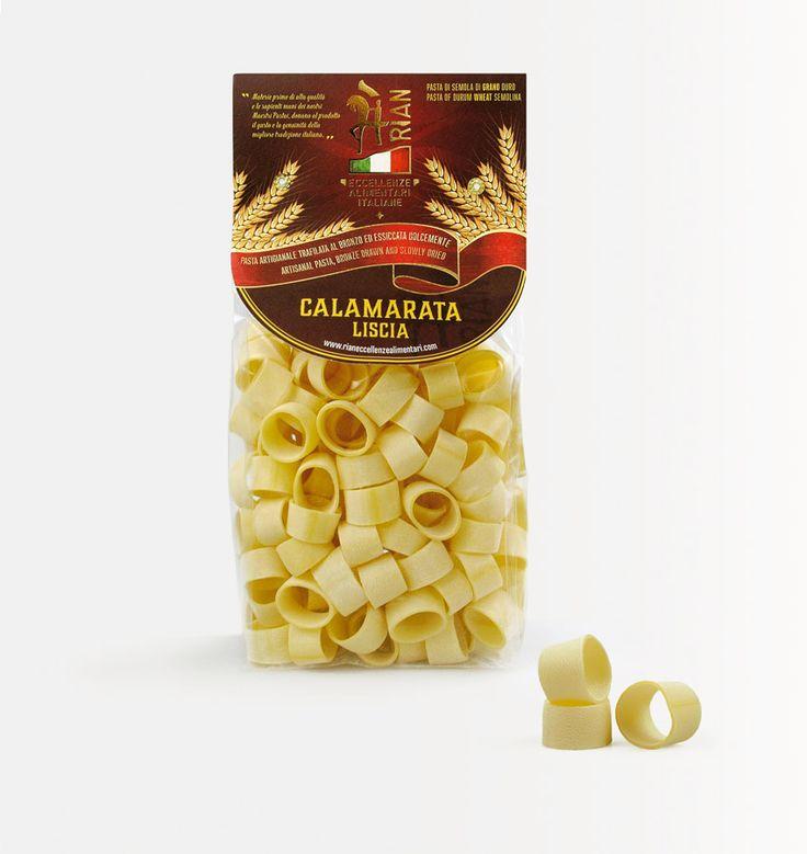 #calamarata, #pasta di gragnano, ed il suo nuovo #packaging. Progetto per la nuova linea di prodotti @Rian eccellenze alimentari italiane, realizzato dallo #studio grafico @Lagartixa Design