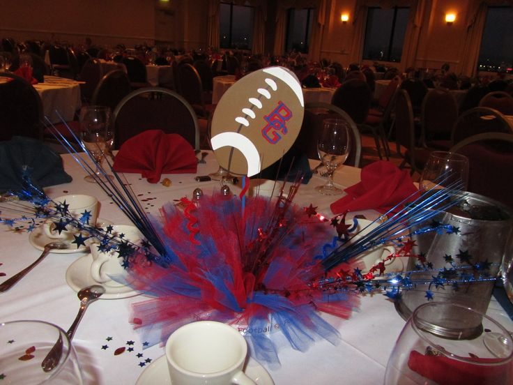 football banquet centerpiece football banquet ideas