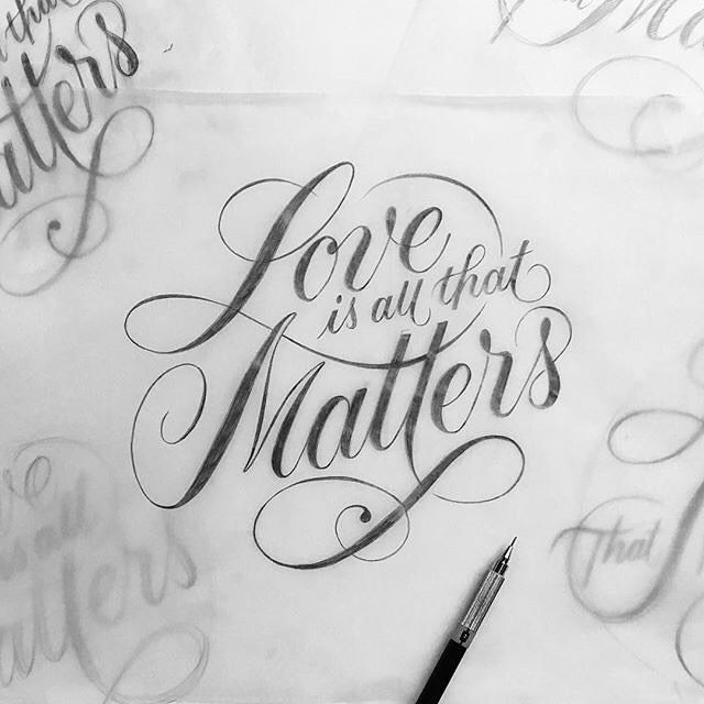 288 best Calligraphy - Flourishing images on Pinterest ...  Love Calligraphy Font