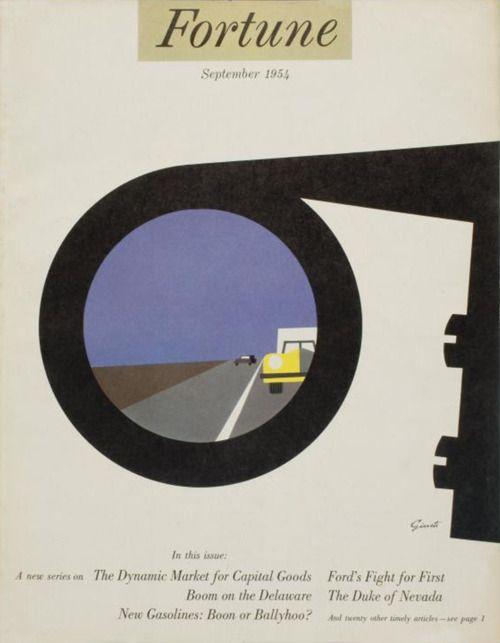 Illustrator: George Giusti  FORTUNE September 1954  Leo Lionni, Art Director