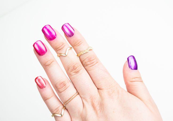 IsaDora ♥ Jelly Pop + Metallic Base http://beautyboulevard.se/diik Nail Design Nails Naglar Nageldesign Swatch Inspiration Färgglad Colorful Pink Purple Red
