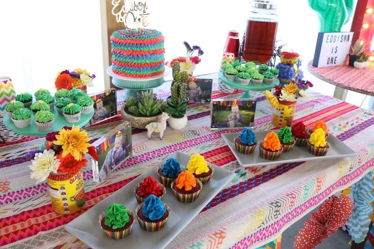 Vibrant fiesta first birthday