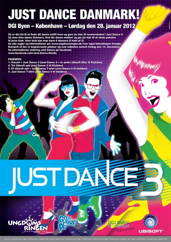 Flash banner campaign for the Ubisoft Game Just Dance 3