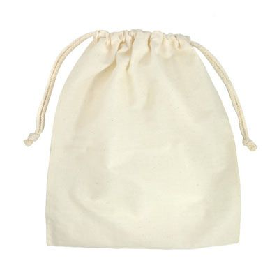 "10"" x 12"" Cotton Drawstring Bags - 12 Pack"