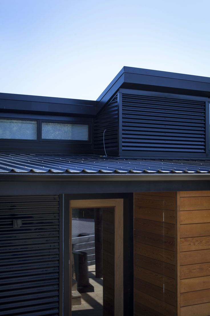 Dimond Veedek Roofing and Corrugate Cladding in Black - Waitakere House
