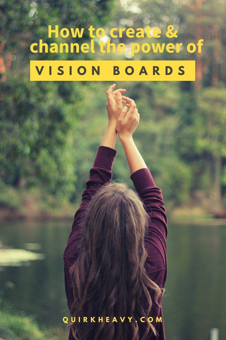 Using the power of vision board to manifest the life you want