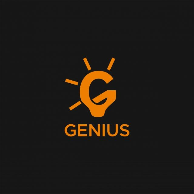 Genius Lamp G Logo Abstract Background Brain Png And Vector