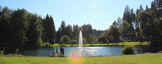 Unser Badesee - Camping Isny Allgäu - Waldbad