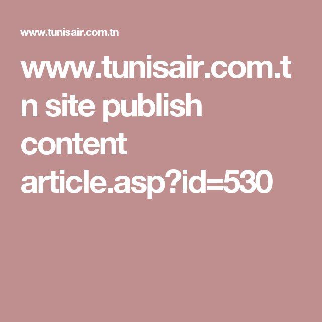 www.tunisair.com.tn site publish content article.asp?id=530