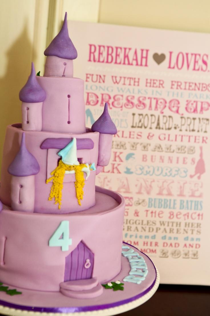 Rapunzel's Castle - Fairytale Cake & Personalised Kids Poster   www.macaroon.co/macaroon/content/en/macaroon/posters-kids-personalised-posters