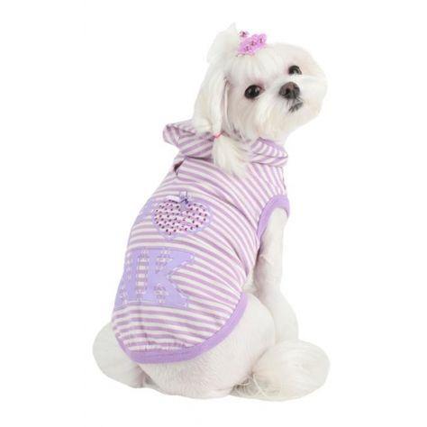 Sudadera para Perros Pinkaholic Púrpura - KUKA´S WORLD - Ropa y Accesorios exclusivos para Perros. Moda Canina de Diseño y Artículos para Mascotas con estilo. Designer Dog Clothes and Luxury Accessories for Pets! http://www.kukasworld.com/