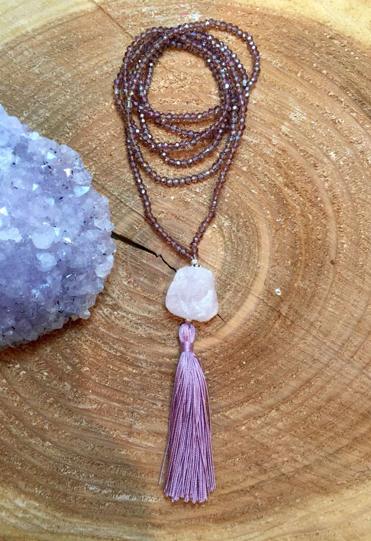 A personal favorite from my Etsy shop https://www.etsy.com/ca/listing/469042652/rose-quartz-tassel-necklace