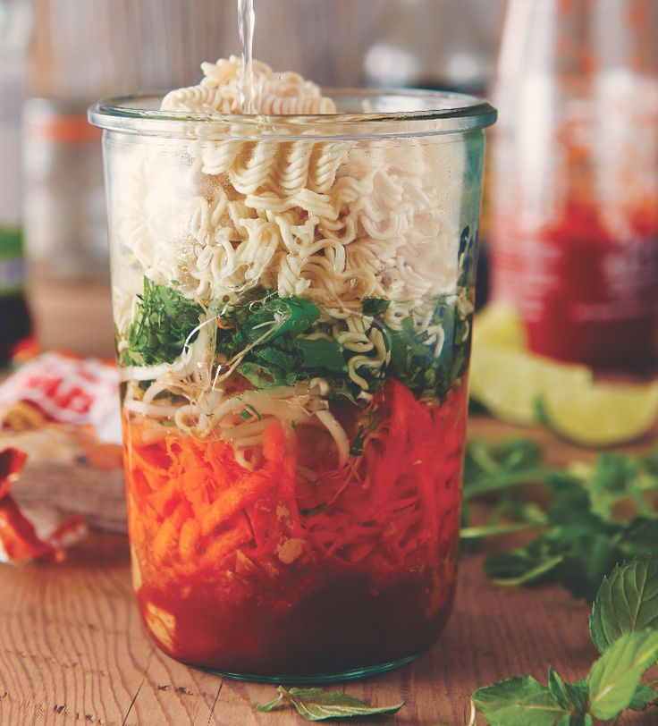 On the fly? Take breakfast to go or a pre-made lunch to savour in a jar. Chef Michael Smith shares these recipes from his book  Family Meals: 100 Easy Everyday Recipes. Just Add Water Noodles – in-a-Jar Makes enough to fill a 1-quart (1L) mason jar with a delicious meal-on-the-fly for 1. INGREDIENTS 2 tablespoons (30 …