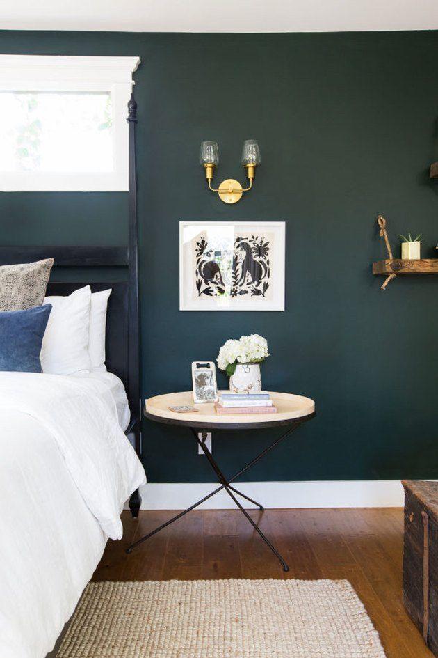 10 Verdant Green Bedroom Ideas That Bring The Outdoors In Hunker Green Bedroom Walls Bedroom Green Green Master Bedroom