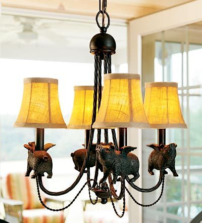 I want this chandelier! I've searched and searched and searched... can't find it. Plow & Hearth doesn't carry it anymore.