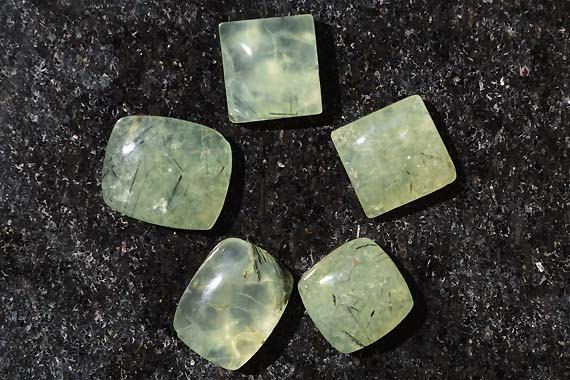 162 Ct Wholesale lot 5 Pcs Natural Awesome Prehnite Gemstone Cabochon R0811 by JAIPURARTMART on Etsy