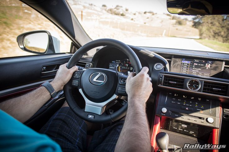 Driving the Lexus RC-F | At RallyWays, we'll select a handful of cars we love, source them and take our time to put them through their paces for a detailed write-up on our website. Here, Danny Cruz is driving the amazing 2015 Lexus RC-F for the story linked to this pin. #rallyways