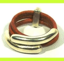Sensational Leather Ring by Cozy Detailz  * Ring for her * gift for mom * leather jewelry * Wrap ring