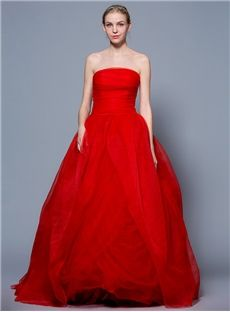 Natural Pick-Ups Strapless Classic & Timeless Floor-Length Plus Size Simple & Casual Fall Wedding Dress