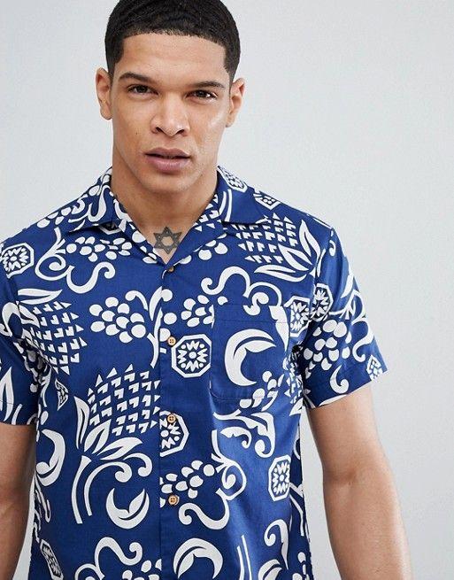 5213eec4 Replay Hawaiian Short Sleeve Shirt in 2019 | Shirts | Hawaiian ...