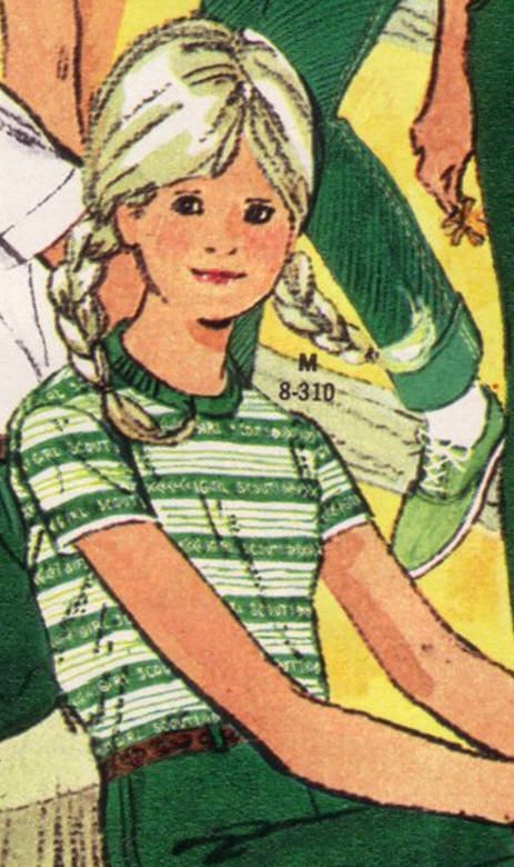 girl scout tee-I had this! and I remember wearing the big yellow plastic poncho too!