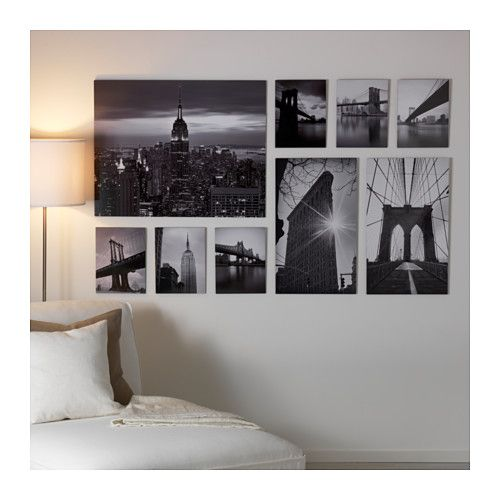 IKEA GRÖNBY picture, set of 9 Motif created by Håkan Strand.