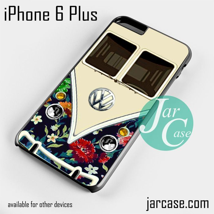 old floral vw retro bus Phone case for iPhone 6 Plus and other iPhone devices