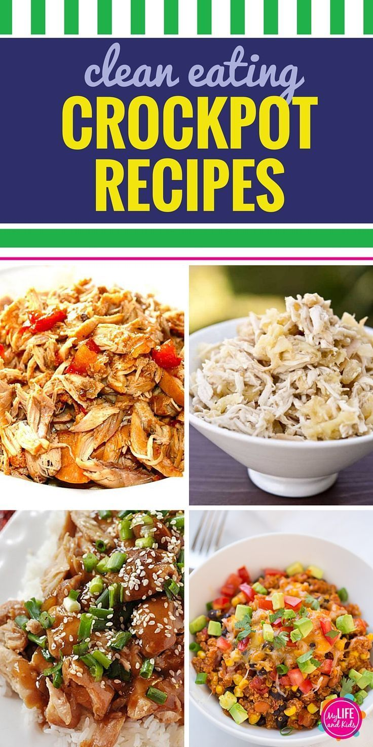 15 Clean Eating Crockpot Recipes. Your slow cooker can be your best friend when it comes to planning your next meal when you're eating clean. Healthy barbecue chicken and great soup for dinner - clean eating never tasted this good from a crockpot.