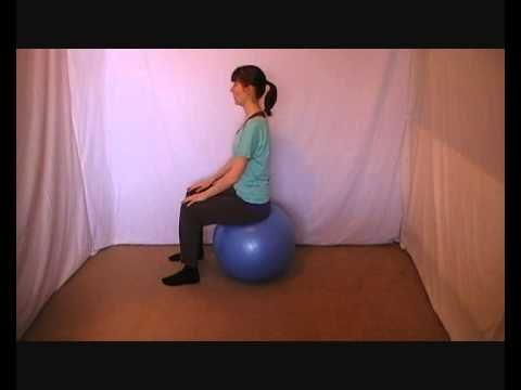 ▶ Swiss ball exercises for pregnancy - YouTube - this is an excellent 3-exercise routine that I felt as a light core workout as well as a lower back stretch.  (I am 35 weeks.)