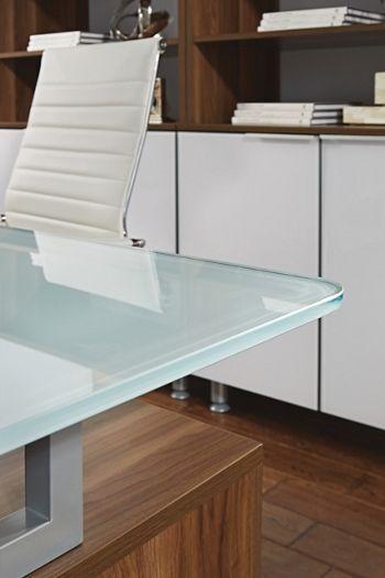 Glass Desk Office Best 25 Glass Desk Ideas On Pinterest  Glass Office Desk Clear