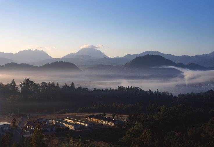 安心院の朝霧