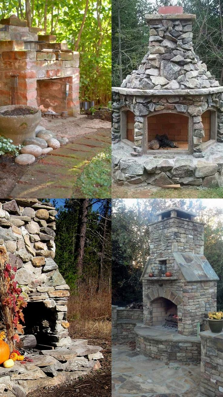 Amazing Outdoor Fireplace Designs Part 2 #outdoorLiving