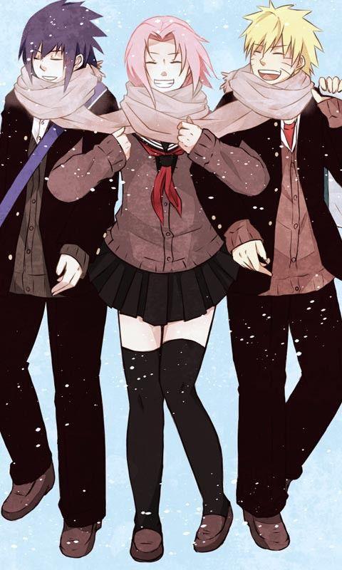 Sasuke,Sakura y Naruto
