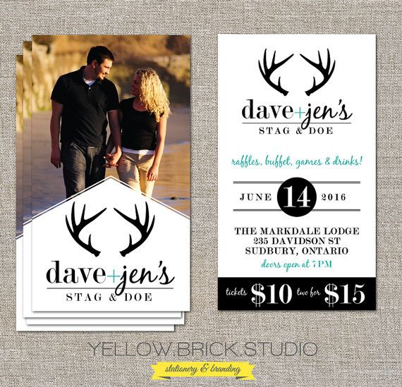 Stag and Doe Photo Tickets 250 or 500 double by yellowbrickstudio