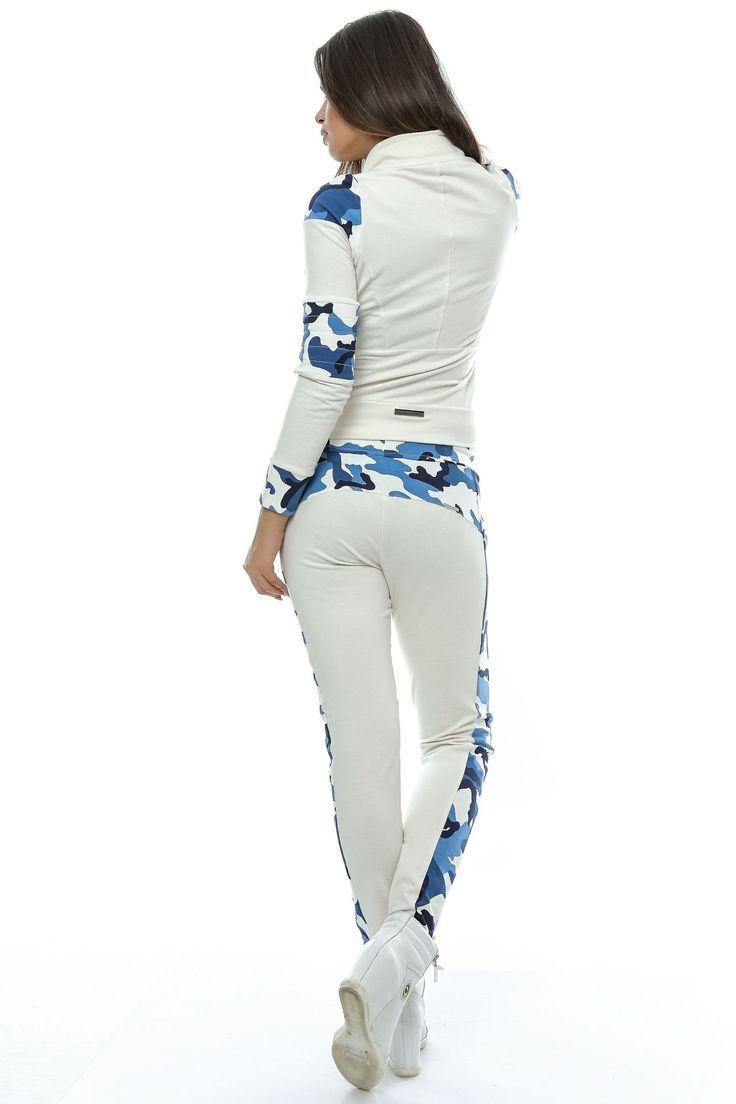 Lady's white blue set Foggi Air