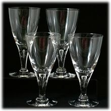 Skruf Stockholm Scandinavian Wine Glasses with Teardrop Bubble Stems