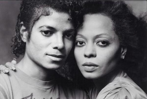 Michael Jackson and Diana Ross 1980s
