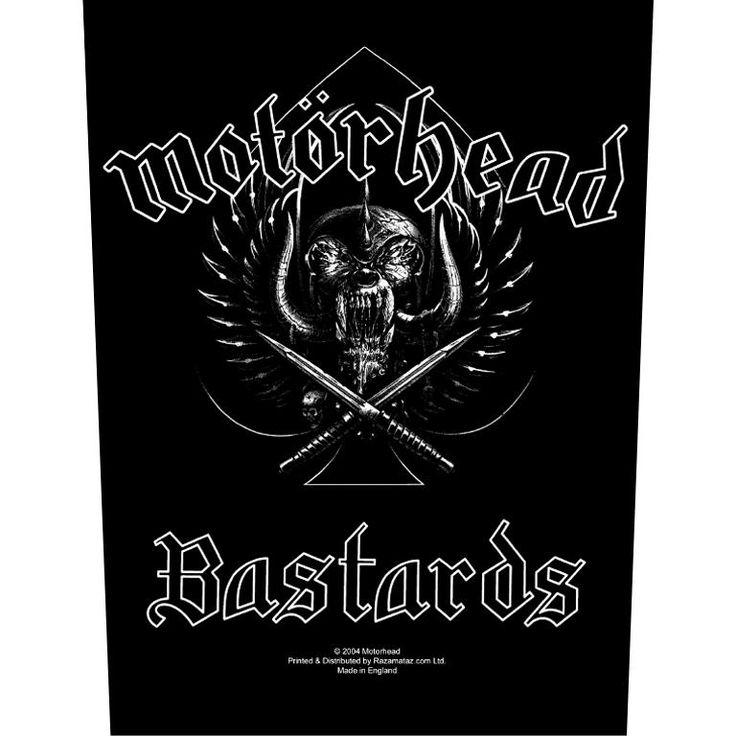 Motörhead Ryggmärke »Bastards« | Köp i Sweden Rock Shop | Mer kåda Ryggmärken finns online ✓ Oslagbara priser!