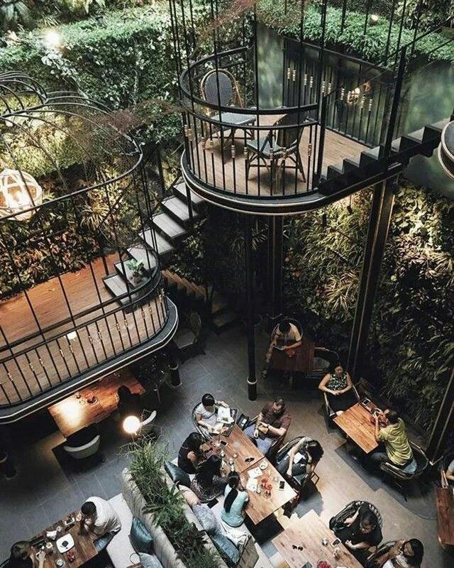 tremendous Café-Terrassen-Restaurant, Ho Chi Minh Stadt, Vietnam #CaféTerrassenRes…