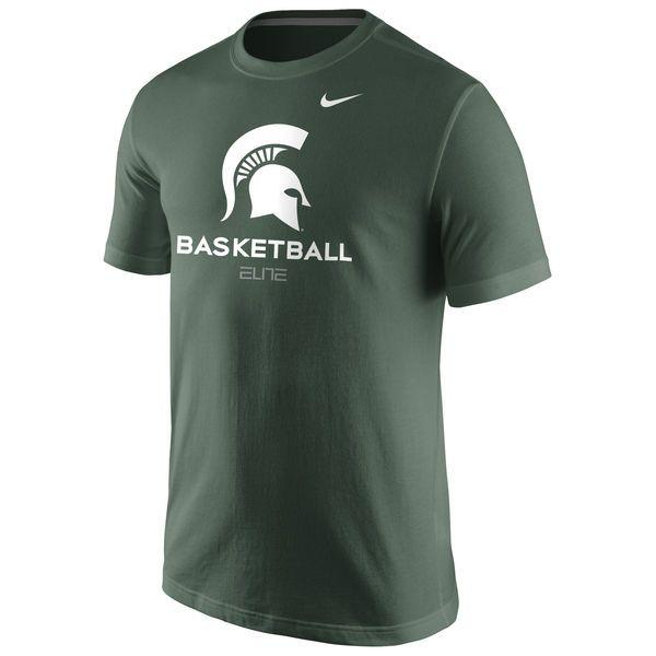 Michigan State Spartans Nike University Basketball T-Shirt - Green - $25.99