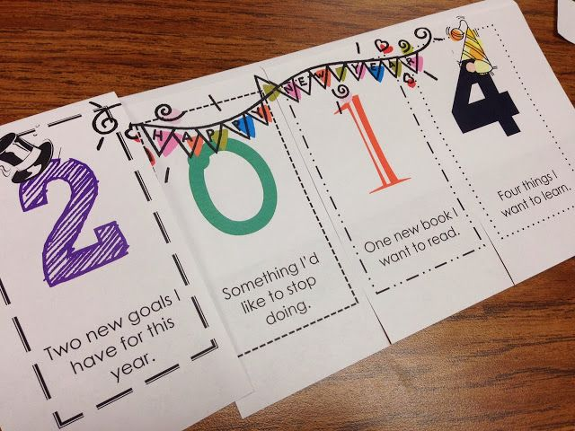 Free 2014 Foldable ~ Sets the tone for the New Year with a fun-to-make project focusing on learning goals!