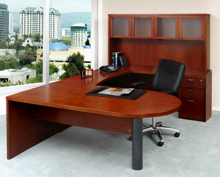 Mira Series U Shape Computer Desk With Hutch