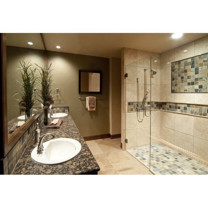 Tuscany Classic 16 X 16 Travertine Field Tile Bathroom Remodel