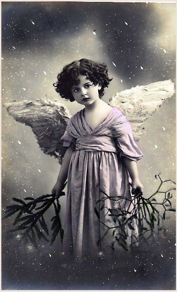 Винтажные открытки ангел, год