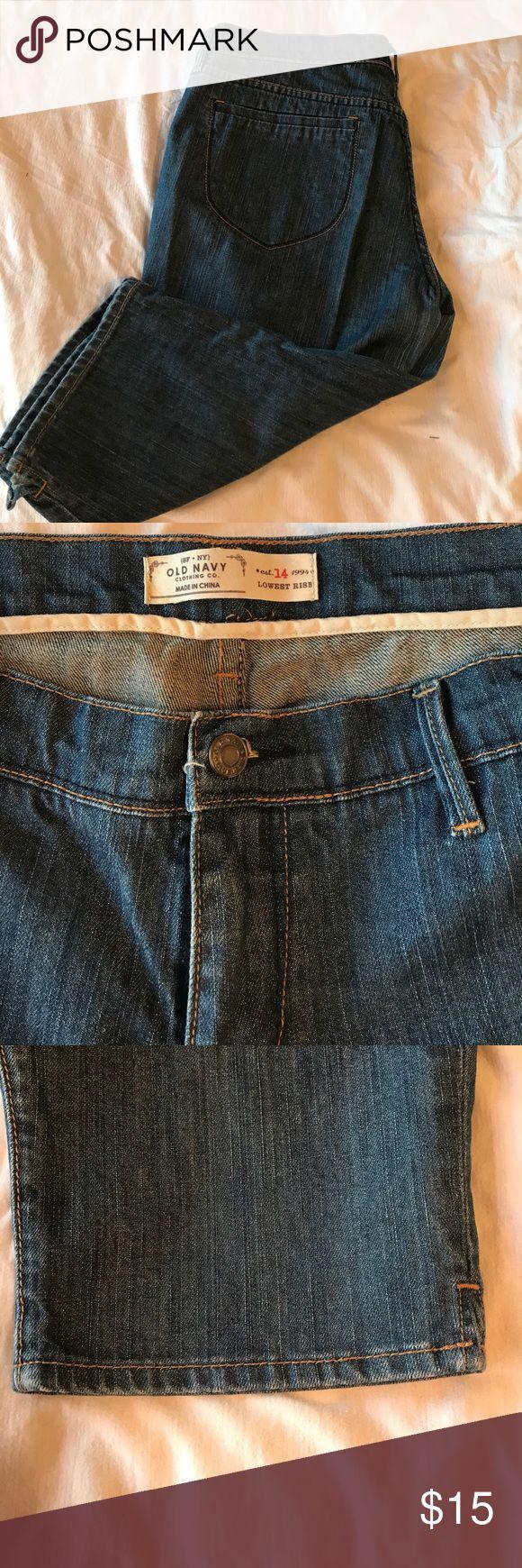 """Women's Jean Capris Jeans Capri pants, worn once. Excellent shape. Length is 24"""" Old Navy Pants Capris"""