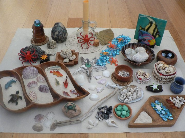 Under the Sea collection of open ended materials to explore and play