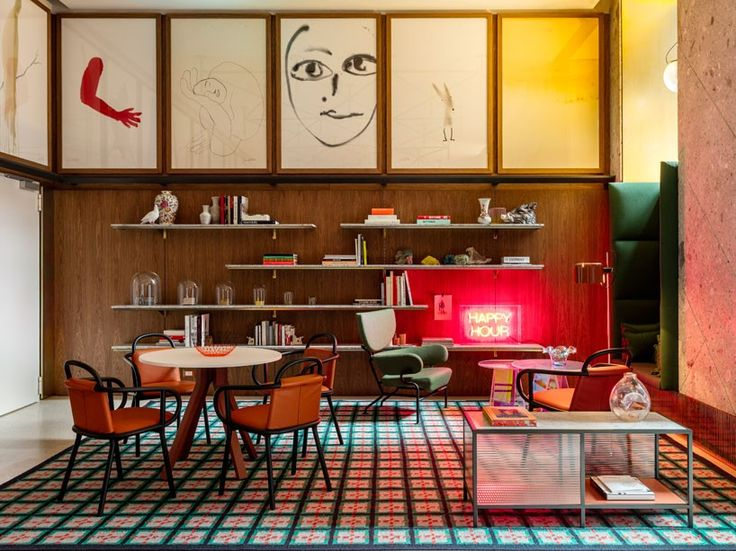 located steps away from piazza del duomo, the new hotel belonging to the spanish chain room mate, uses color, material, grids and detailing to pay homage to the italian city.
