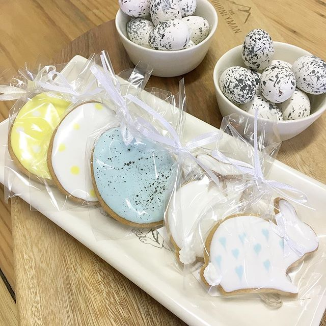 SnapWidget | Handmade, iced Easter biccies in store now! #Easter #therubyorchard